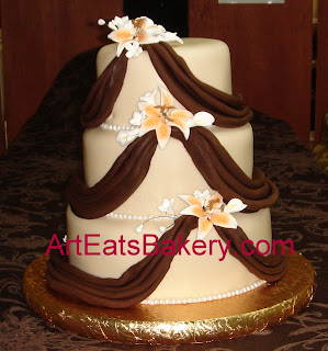 3 Tier Wedding Cakes 39 Stunning Modern round off white