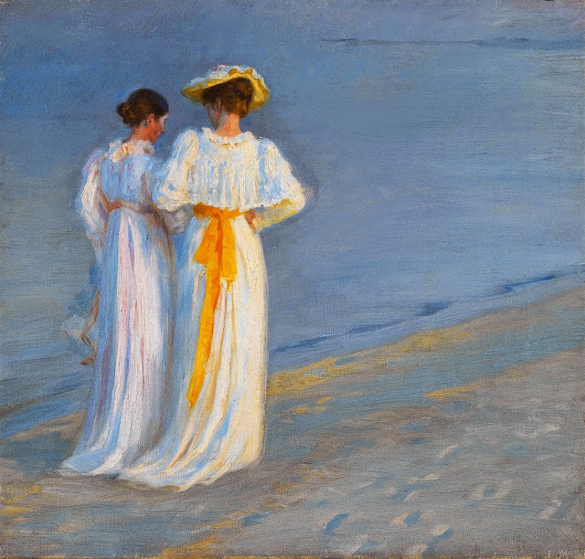 Peder Severin Krøyer - Marie Krøyer and Anna Ancher on the Beach at Skagen
