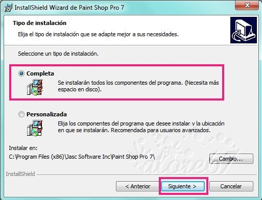 5-Descargar e Instalar Paint Shop Pro 7.04
