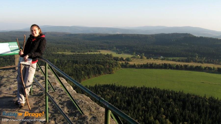 szczeliniec wielki - widok na góry stołowe