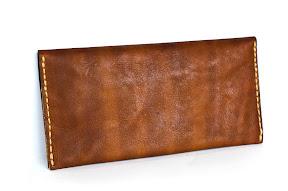 Кожаный коричневый кошелёк ручной работы. № 142