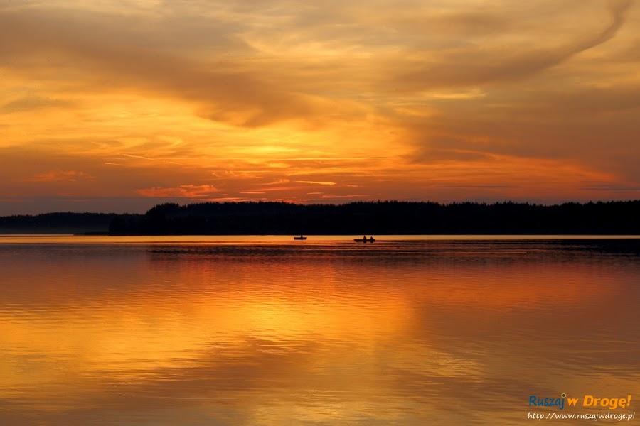 Zachód Słońca na Kaszubach - Jezioro Wielewskie