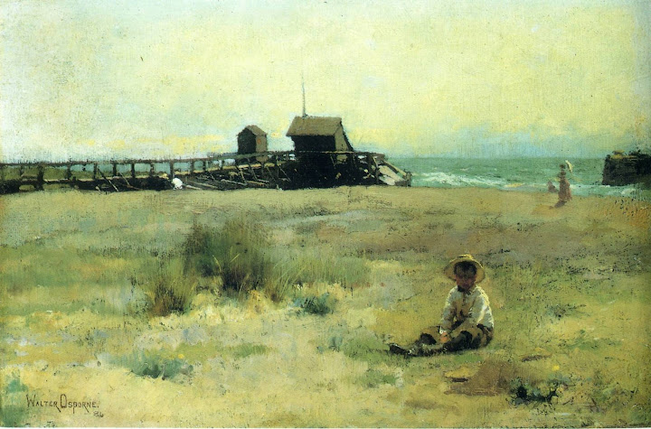Walter Frederick Osborne - Boy On A Beach