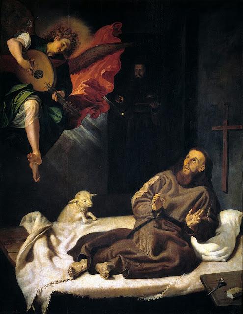Francisco Ribalta - San Francisco confortado por un ángel músico