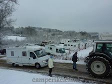 De camping op trekken