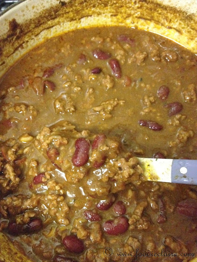 game day chilli dish