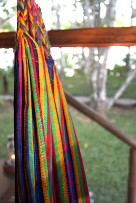 Hammock in a bungalow at Inkaterra Reserva Amazonica in Tambopata in the Amazon in Peru