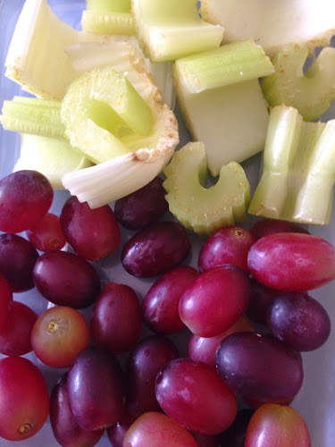 Celery and grape