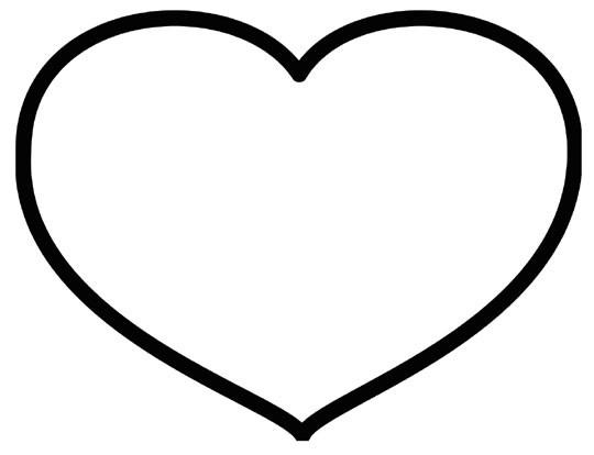шаблон сердца