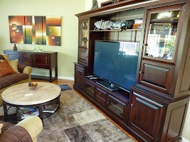 Custom Media Center in Rich Cherry