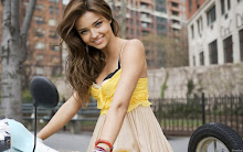 women miranda kerr models yellow dress 1680x1050 wallpaper