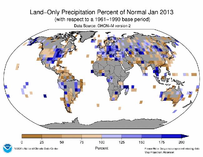 Informe climático de la Tierra. Enero de 2013, el 9º más cálido de la historia