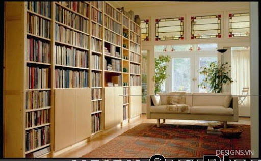 Các mẫu thiết kế nội thất phòng đọc sách P1-19