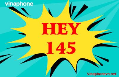 Gói Hey145 VinaPhone nhận 1.500 phút nội mạng, 70 phút ngoại mạng, 12Gb tốc độ cao
