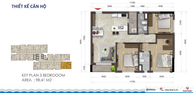 Thiết kế căn hộ Akari City 98m2