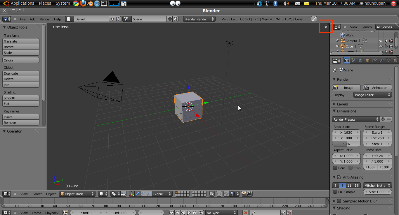 Split dan Join Area di Blender 2.5 2