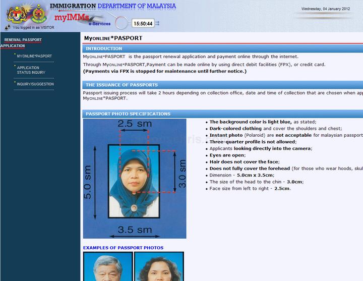 How to renew passport online malaysia