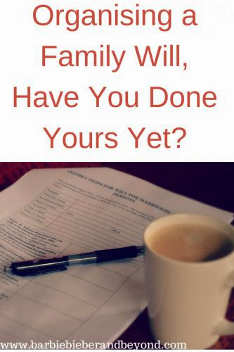 Organising A Family Will