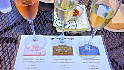 Welcome yourself to Wine Country with a visit to Gloria Ferrer and enjoy a flight of sparkling on their terrace overlooking their vineyards