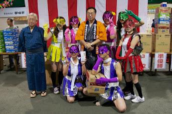 北竜町盆踊り大会2014・団体3位:商工会女性部(北竜町)