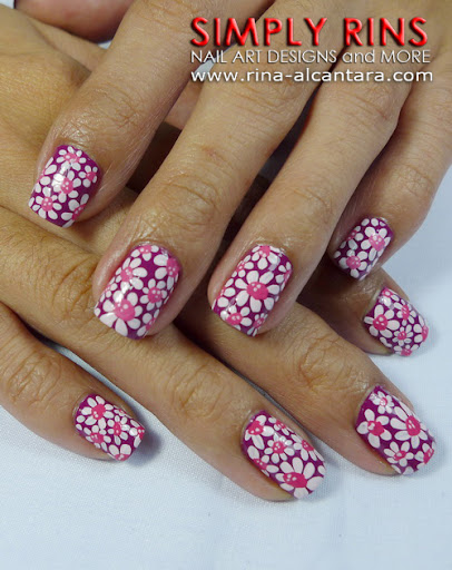 Flower Power Nail Art Design