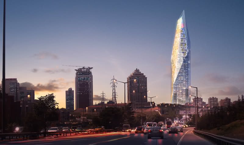 Istanbul Skyscraper Development design by FXFOWLE