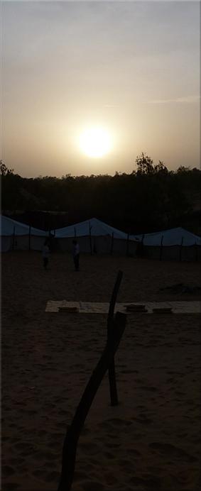 Amanecer en el campamento - Desierto de Lompoul