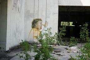 Grafit na pripjatskom restoranu