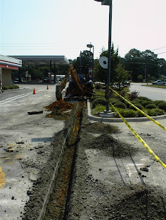 Remedial system installation at Gas Station