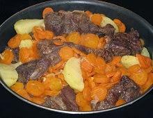 Joue de boeuf aux carotteset pommes de terre