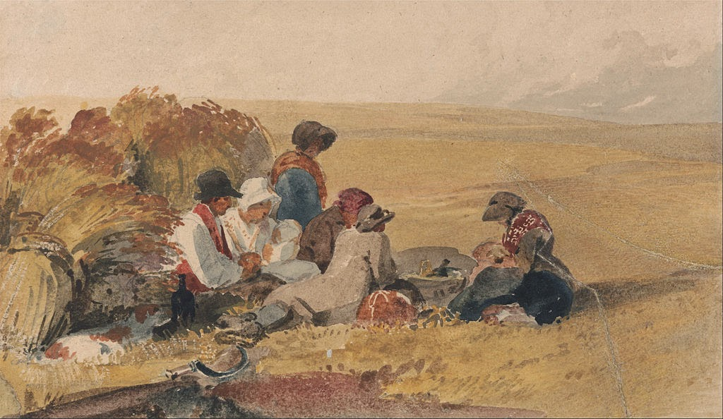 Peter De Wint - The Harvesters - Google Art Project