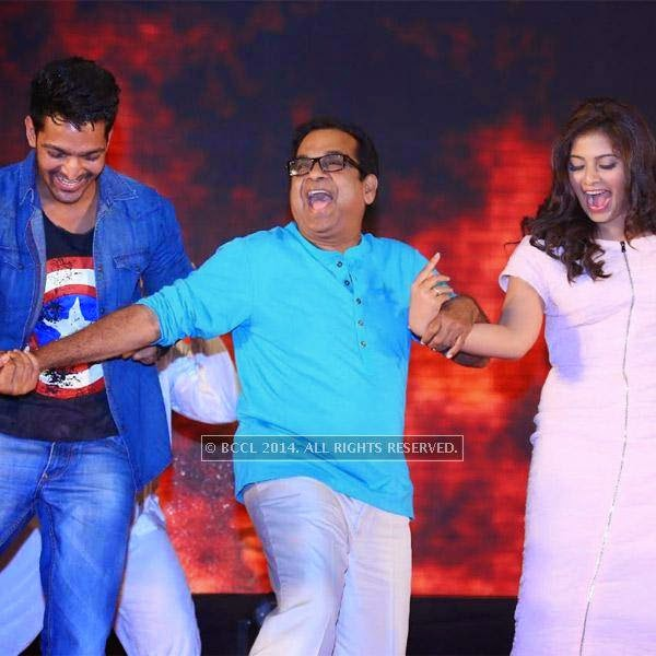 Brahmanandam can tickle your funny bone. But seeing him dance is a rare sight. The veteran actor was recently seen shaking a leg with actors Anjali and Harshvardhan Rane at a filmi function.