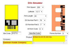Color Plus 200 a DXn Simulator oldalán