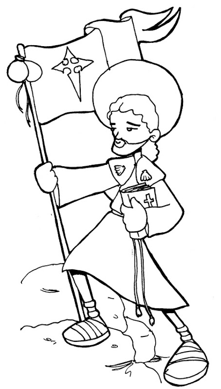 St. James the Greater coloring pages