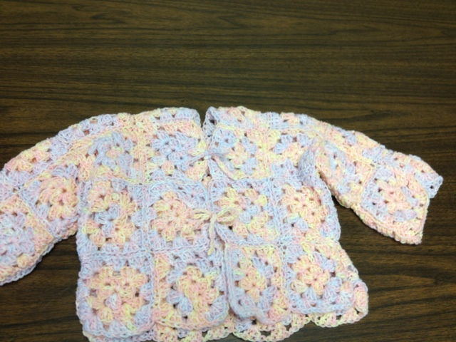 Julies Creative Lifestyle Granny Square Baby Sweater