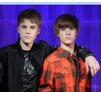 justin bieber wax model. Justin Bieber went to visit