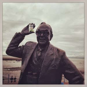 Eric Morecambe statue at the beach