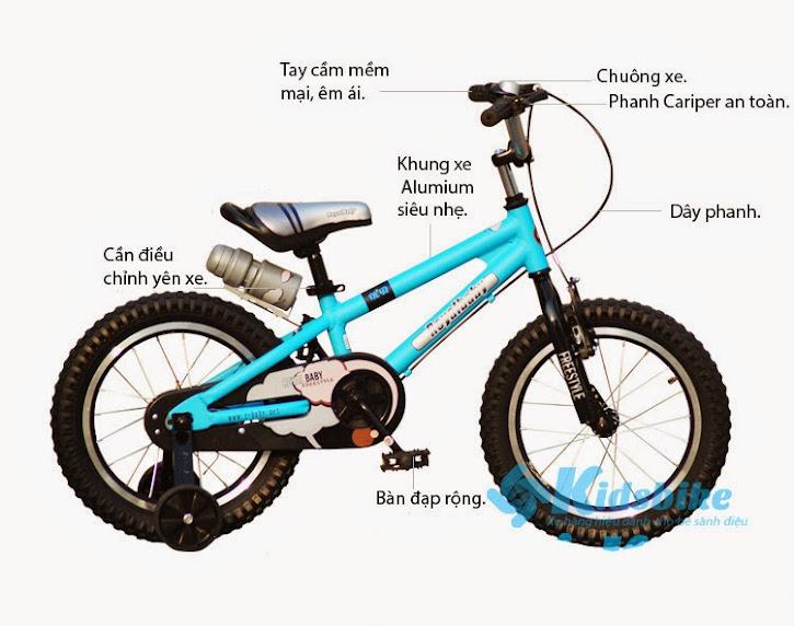 Xe đạp Royal Baby Free Style Aluminum 4 bánh cho trẻ em