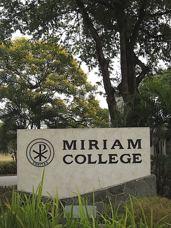 sign of Miriam College