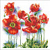 Lovely Poppys cross stitch pattern
