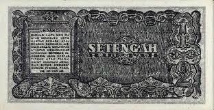 gambar uang kuno 1/2 rupiah