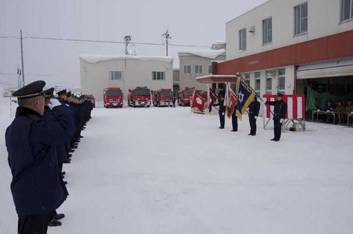 北竜消防・創立100周年を飾る「出初式」2013