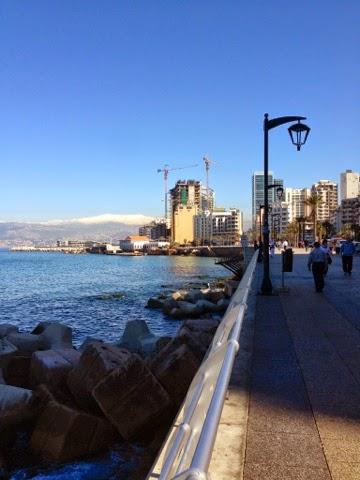Picture of the Corniche in Beirut, Lebanon.