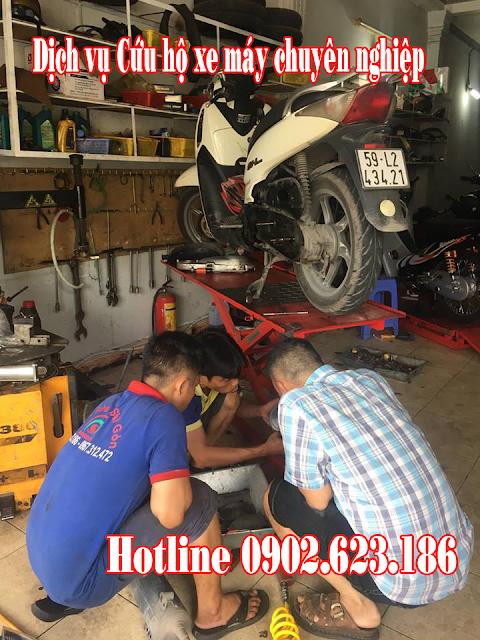 Cứu hộ xe máy Honda tại TpHCM, chuyên nghiệp nhanh chóng