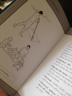 a glimpse at the drawing and instructions for building a sandcastle in the book stuff every dad should know