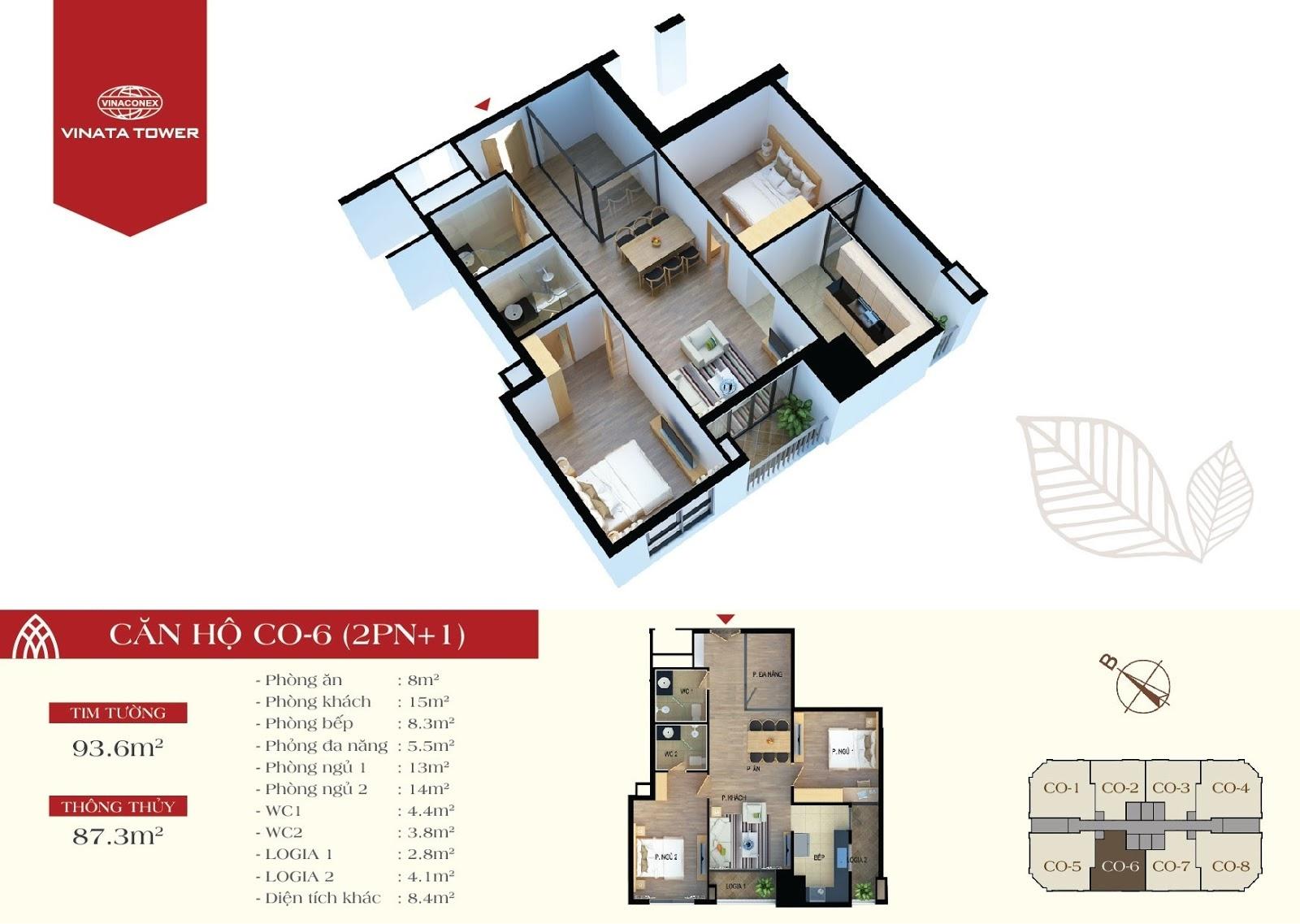 căn hộ CO6 chung cư Vinata Tower