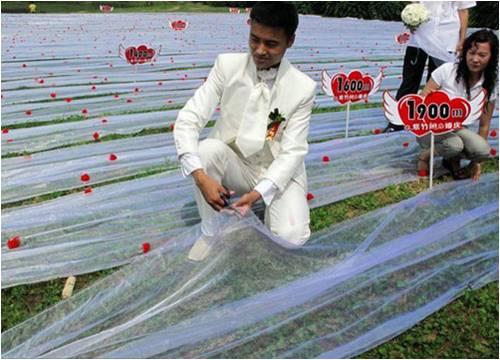 Vestido de novia mas largo del mundo