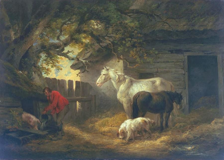 George Morland - A Farmyard