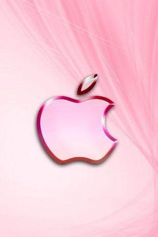 Pink Apple Desktop Wallpaper For iPhone