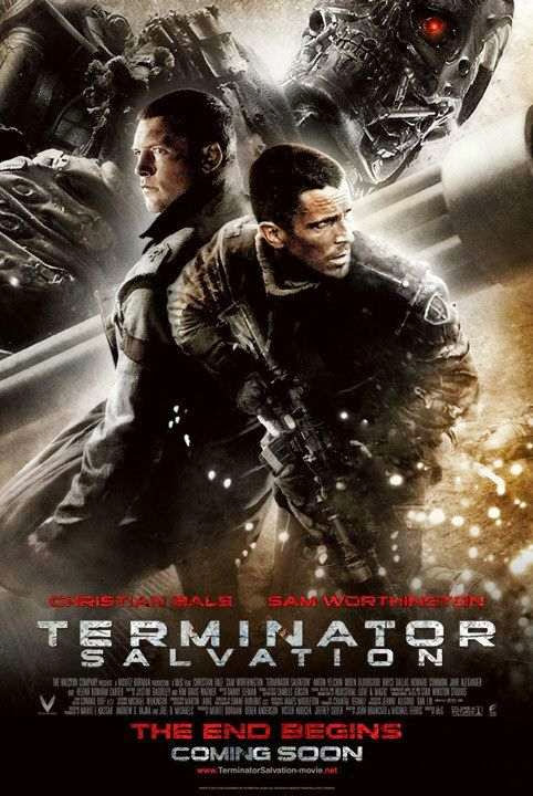 Poster Of Terminator Salvation (2009) Full Movie Hindi Dubbed Free Download Watch Online At Alldownloads4u.Com